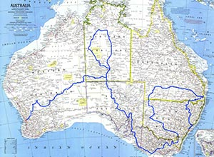 Australia route outline of 1977 London-Sydney Rally